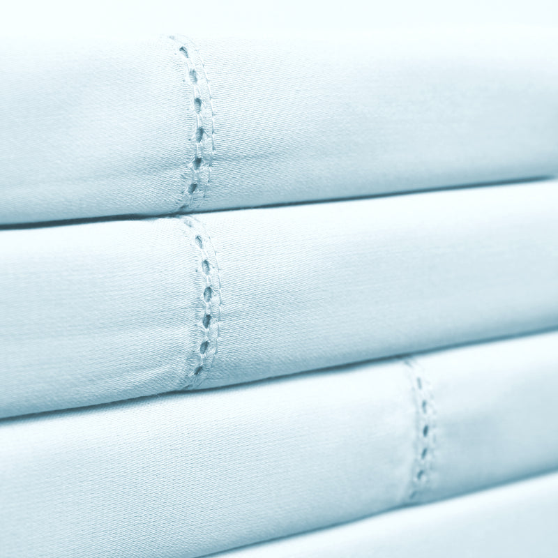 Organic Cotton 450 Thread Count Hemstitch Sheet Set
