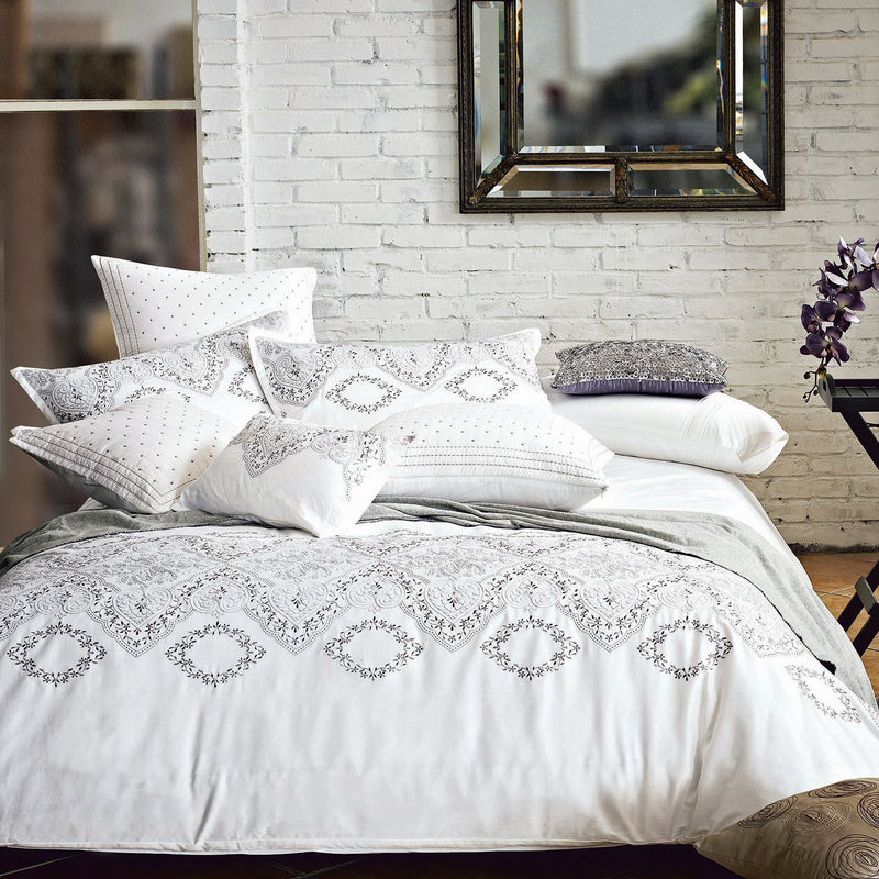 Brocade Embroidered Duvet Set