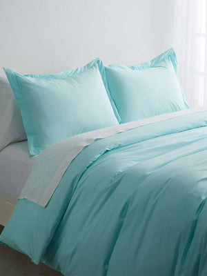 Double Pleat Percale Duvet Set