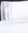 600 Thread Count Rope Embroidered Pillowcase Pair