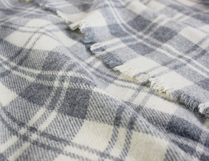 Granite Plaid Wool Blanket