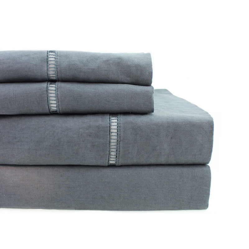 Linen Ladder Hemstitch Sheet Set