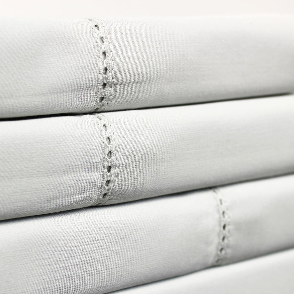 Organic Cotton Hemstitch Sheet Set