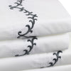 Laurel Embroidered Percale Sheet Set
