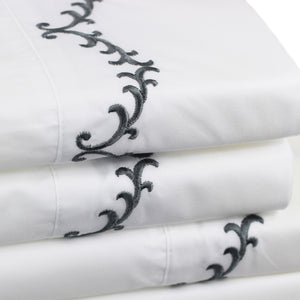 Laurel Embroidered Sheet Set