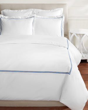 600 Thread Count Double Stripe Embroidered Sheet Set