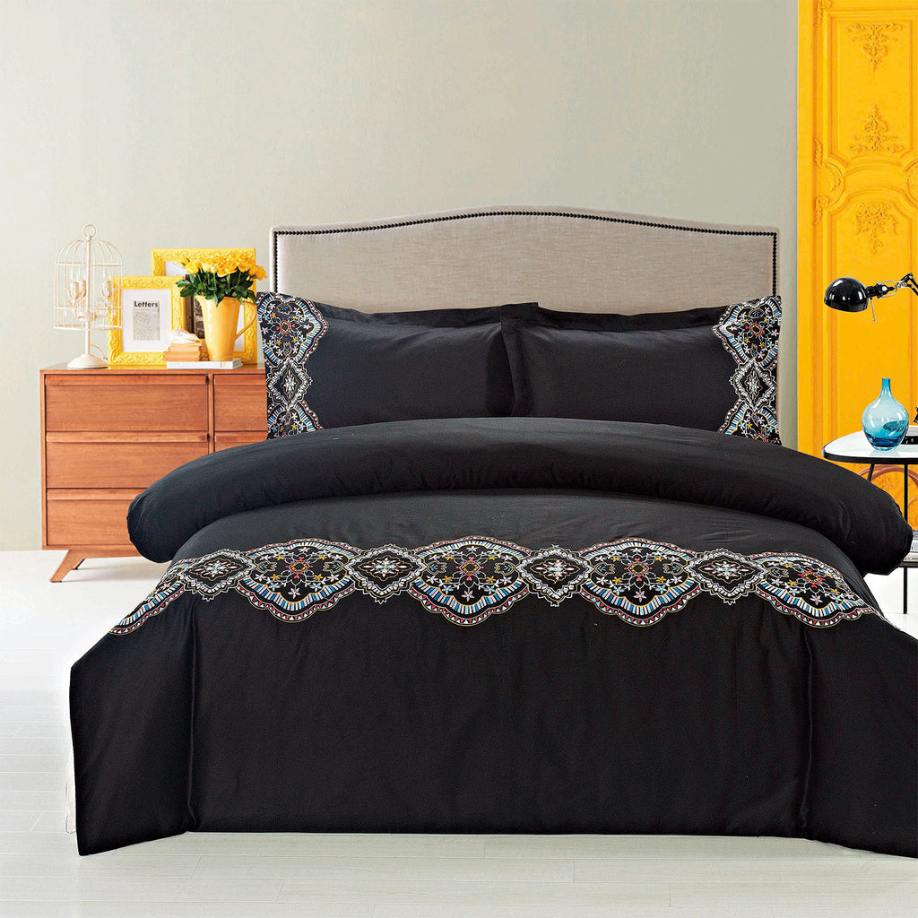 Morocco Embroidered Duvet Set