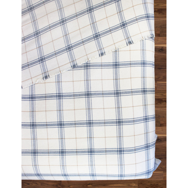 Window Pane Wool Blanket