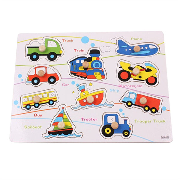 Educational Wooden Puzzle for Kids - Vehicles