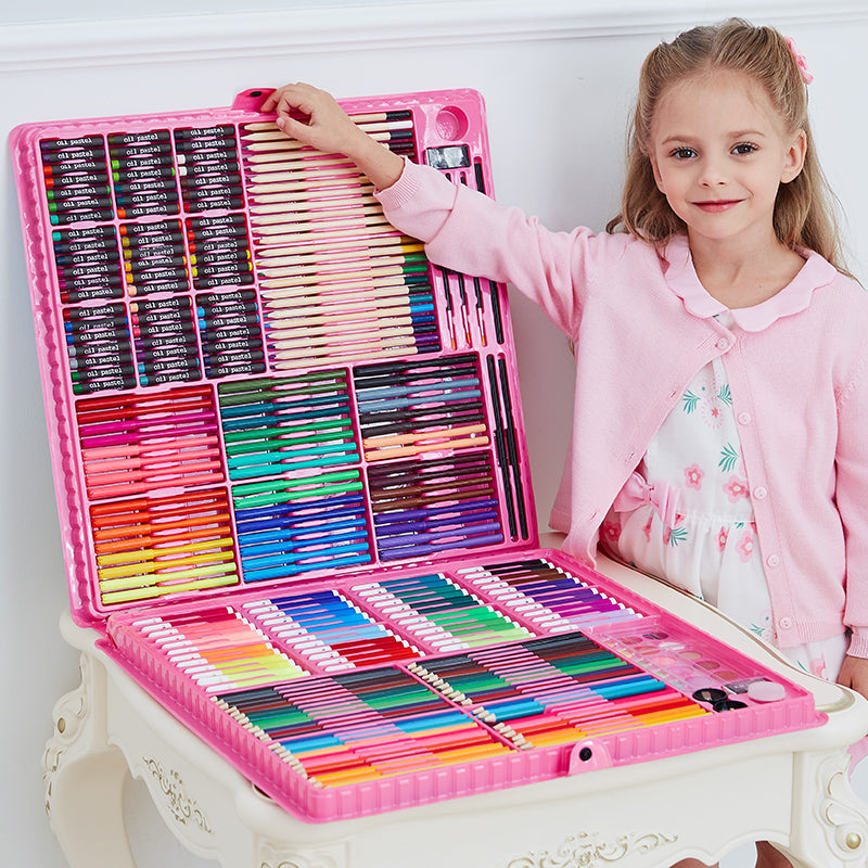 Art Supplies in a Carrying Case for Kids