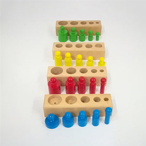 1 Pc Montessori Colorful Socket Cylinder Children's Puzzle Educational Toys