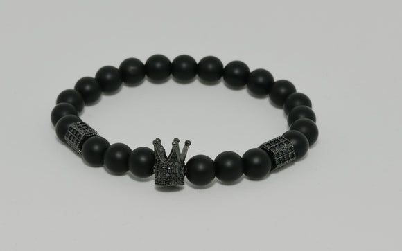 Crown Armband Black