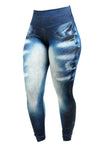 Kit 4 Calças Legging Sublimada Fake Jeans