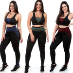Kit 3 Calças Leggings Fitness Cós Alto (4414594154541)