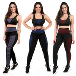 Kit 3 Calças Leggings Fitness Com bolso (5273578242199) (5290835148951)