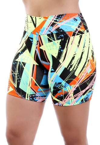 Short Fitness Estampado Verde (4742339854381)