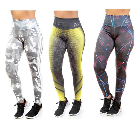 KIT 3 Calças Legging Sublimada (5829395316887)
