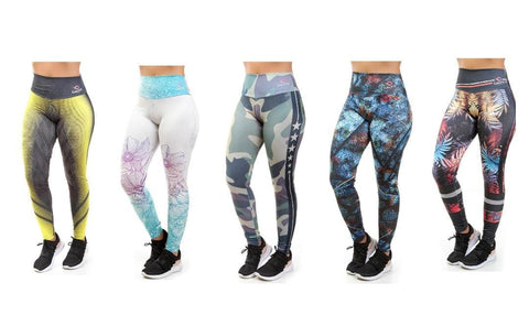KIT 5 Calças Legging Sublimada (5829176131735)