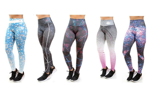 KIT 5 Calças Legging Sublimada (5829163942039)