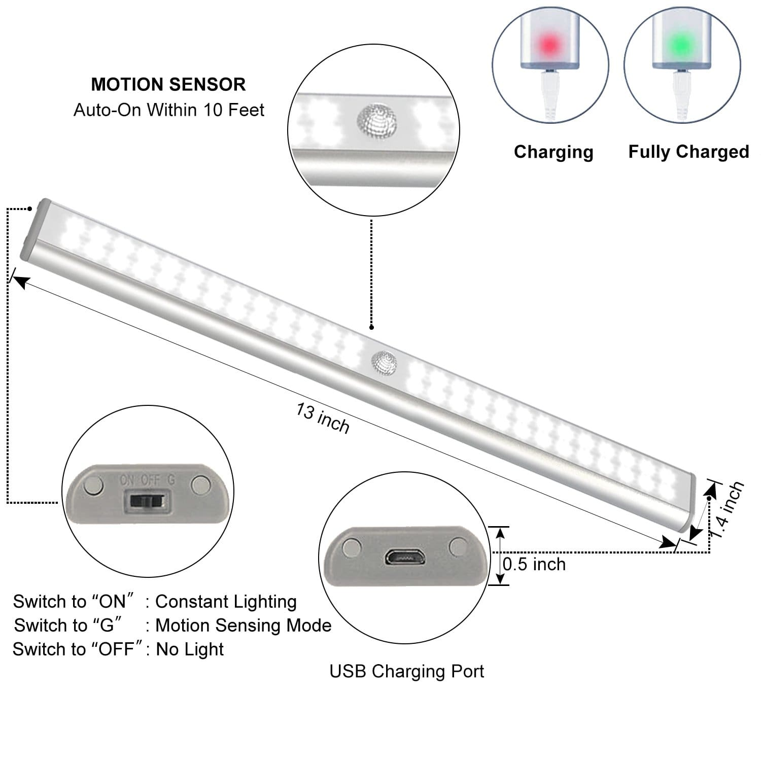 Lepotec LED motion sensor light.