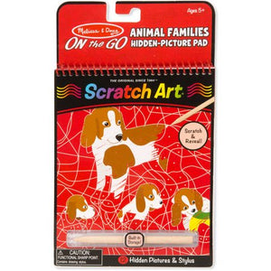 Melissa & Doug On the Go Scratch Art: Animal Families Hidden-Picture Activity Pad