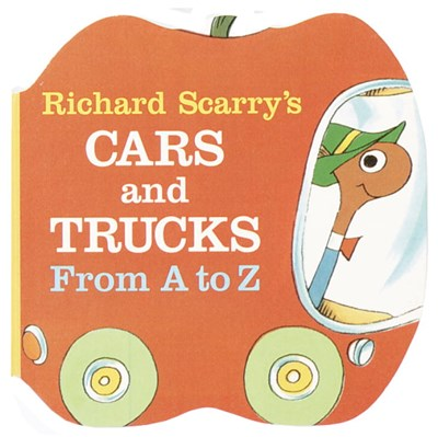 Richard Scarry's Cars and Trucks from A to Z ( Shape Chunky Book )