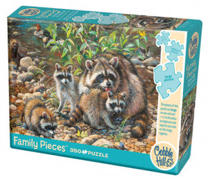 Raccoon Family 350 Pieces Cobble Hill Puzzle