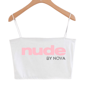 NUDE BY NOVA Logo crop top - NUDE by Nova