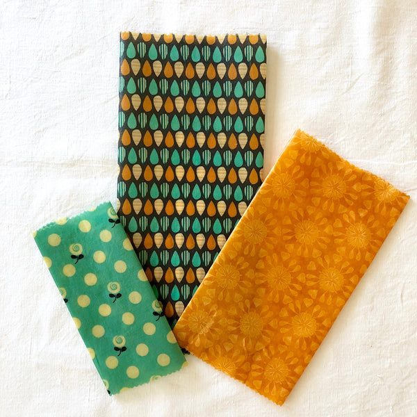 3-PK SUMMER GARDEN BEESWAX WRAPS FABRIC