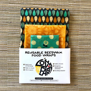 3-PK SUMMER GARDEN BEESWAX WRAPS PACK