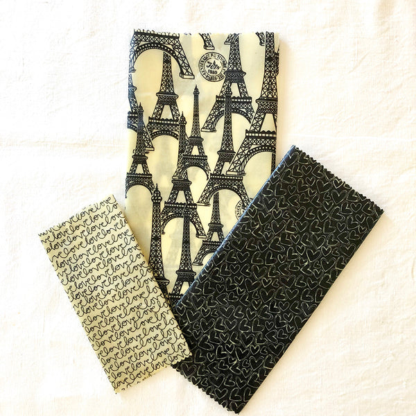 3-PK VINTAGE PARIS BEESWAX WRAPS FABRIC