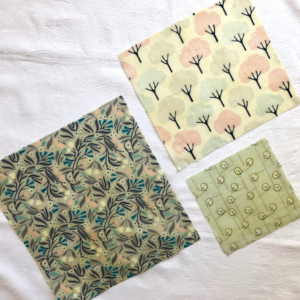 3-PK WINTER GARDEN BEESWAX WRAPS FABRIC