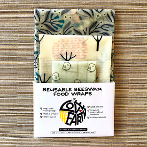 3-PK WINTER GARDEN BEESWAX WRAPS PACK