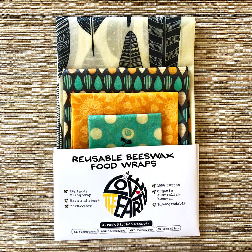 4-PK SUMMER GARDEN BEESWAX WRAPS PACK