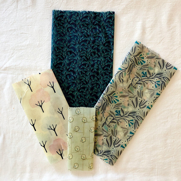 4-PK WINTER GARDEN BEESWAX WRAPS FABRIC