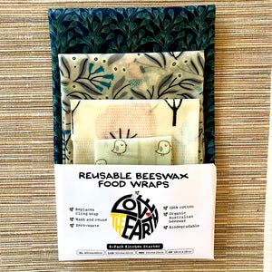 4-PK WINTER GARDEN BEESWAX WRAPS PACK
