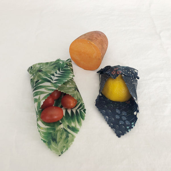 Small size beeswax wraps, 4-pack, wax wrap, reusable food wrap, zero-waste