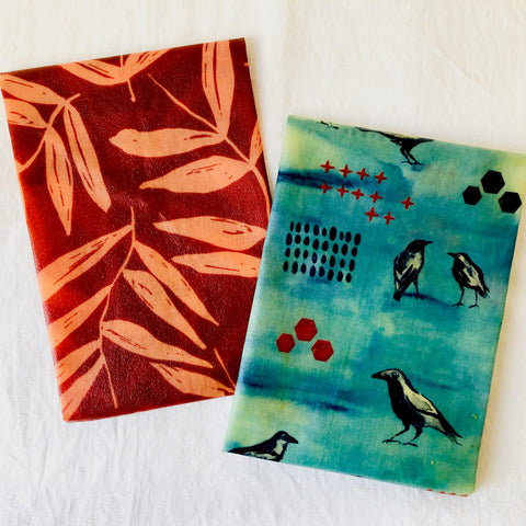 'Australian Bush' beeswax wraps fabric combination