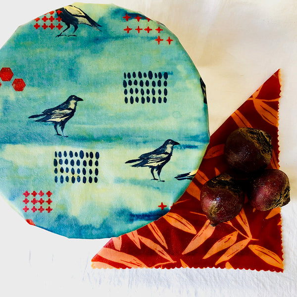 'Australian Bush' beeswax wraps 2-pack medium size