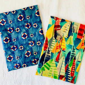 'By the Seaside' 2-pack beeswax wraps fabric combination