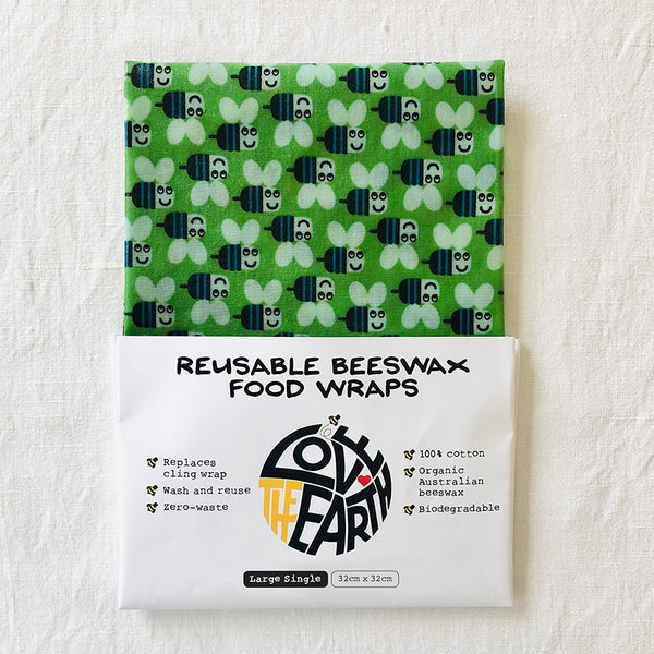 Buzzy Bees LARGE Beeswax Wrap Pack