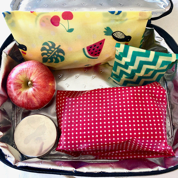 3-PK TROPICANA BEESWAX WRAPS LUNCHBOX KIT INSITU