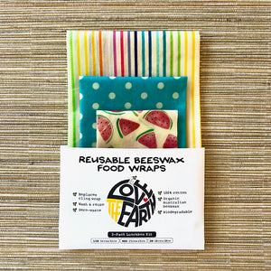 3-PK TUITTI FRUITTI BEESWAX WRAPS LUNCHBOX KIT PACK