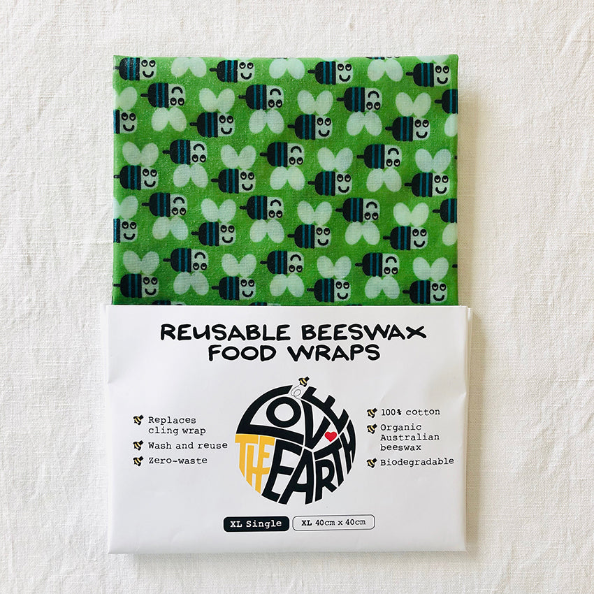 'Buzzy Bees' XL Size Beeswax Food Wrap