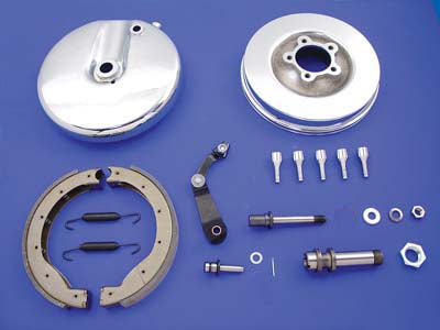 Front Brake Backing Plate Kit Left Side Chrome