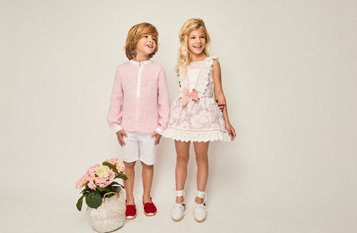 Girls Floral Pastel Dress- Pink