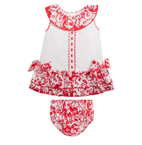 Baby Girls 2 Piece Dress Set - Red