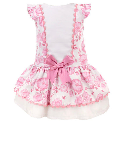 Girls Pink Bow Dress