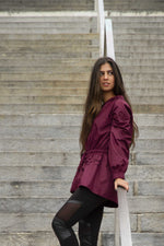 Aiyanna Jacket - burgundy
