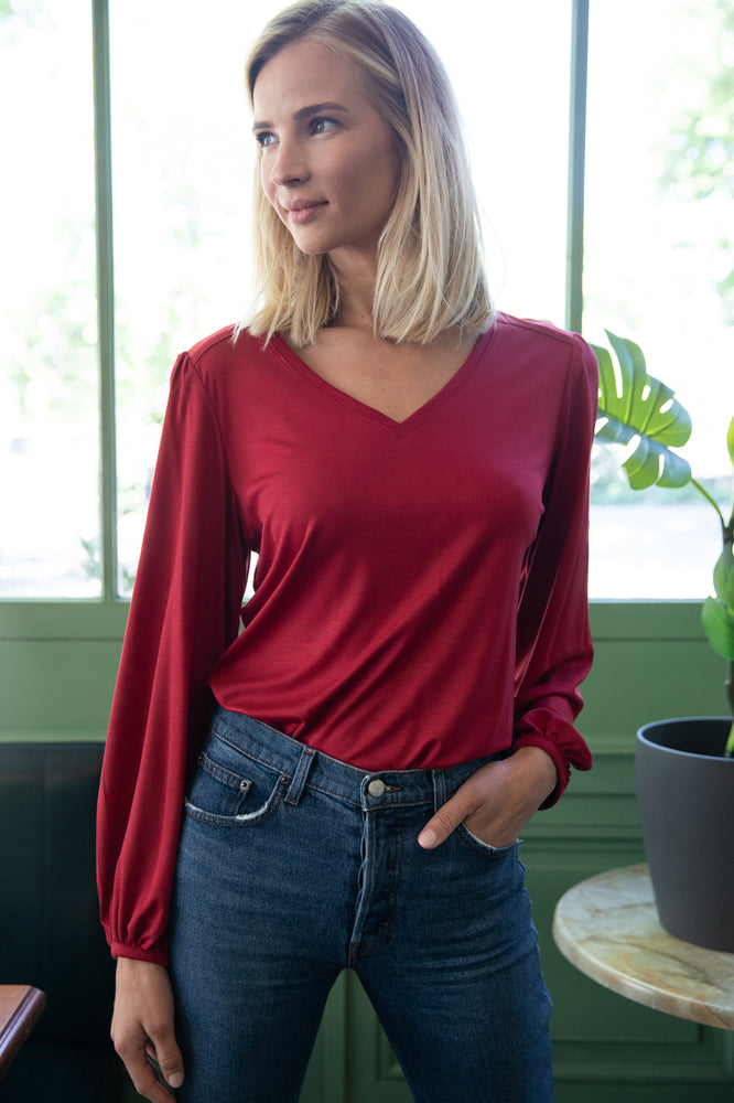 Red Kalmia Top